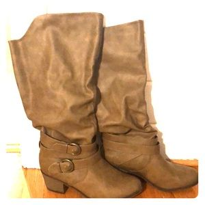 Journee Tall Light Brown Boots